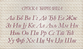 Letras do alfabeto cirílico Fotografia de Stock