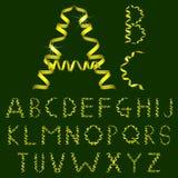 Letras do alfabeto da fita ilustração do vetor