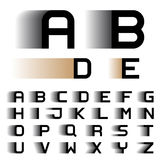 Letras do alfabeto da fonte do borrão de movimento da velocidade Foto de Stock Royalty Free
