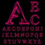 Letras do alfabeto de listras finas ilustração stock