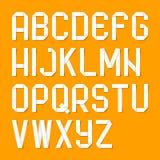 Letras do alfabeto de Origami Fotografia de Stock