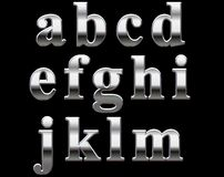 Letras do alfabeto do cromo   Foto de Stock