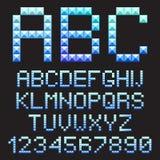 Letras do alfabeto do GELO. Imagens de Stock Royalty Free