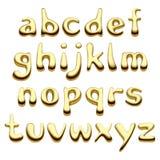 Letras do alfabeto do ouro Foto de Stock