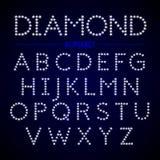 Letras do alfabeto dos diamantes Imagem de Stock Royalty Free