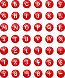 Letras do alfabeto no capital com números Fotos de Stock
