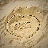 Letras do blogue na praia Imagem de Stock