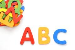Letras do brinquedo Fotografia de Stock
