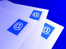 Letras do email Imagem de Stock Royalty Free