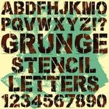 Letras do estêncil Fotografia de Stock
