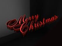 Letras do Feliz Natal Imagens de Stock
