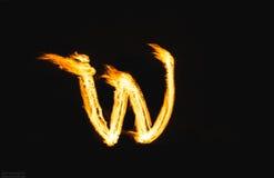 Letras do fogo Fotos de Stock