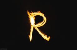 Letras do fogo Fotos de Stock Royalty Free
