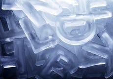 Letras do gelo Foto de Stock Royalty Free