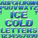 Letras do gelo Imagens de Stock Royalty Free