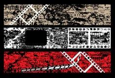 Letras do grunge da tira da película Fotos de Stock Royalty Free