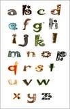 Letras do jardim zoológico Imagens de Stock
