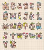Letras do monstro ilustração royalty free