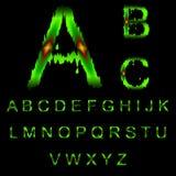 Letras do muco verde ilustração royalty free