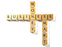 Letras do Scrabble Foto de Stock Royalty Free