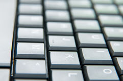 Letras do teclado Fotografia de Stock