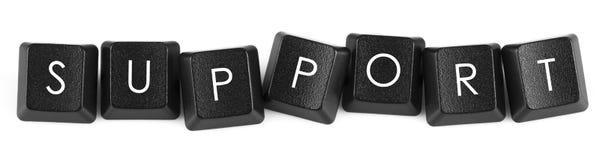 Letras do teclado: SUPORTE Imagem de Stock Royalty Free