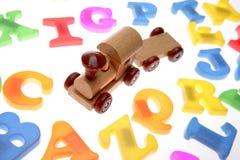 Letras do trem & do alfabeto do brinquedo Imagens de Stock