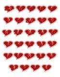 Letras dos corações Foto de Stock Royalty Free