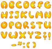 Letras douradas ilustração royalty free