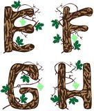 Letras E - H. stock de ilustración
