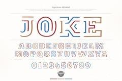 Letras e números étnicos do alfabeto do estilo do gracejo ilustração stock
