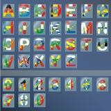 Letras e números ilustração stock