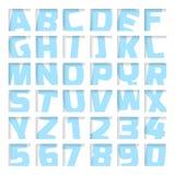 Letras e números azuis ilustração royalty free