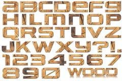 Letras e números do metal do Grunge Fotos de Stock