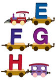 Letras e números do trem Imagens de Stock