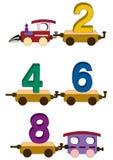 Letras e números do trem Fotografia de Stock Royalty Free