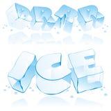 Letras editable do gelo do vetor Imagens de Stock Royalty Free