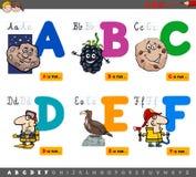 Letras educativas del alfabeto de la historieta stock de ilustración
