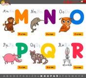 Letras educativas del alfabeto de la historieta para los niños libre illustration