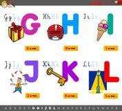 Letras educativas del alfabeto de la historieta para los ni?os stock de ilustración