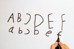 Letras em Whiteboard Imagens de Stock Royalty Free