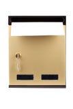 Letras en buzón dorado Imágenes de archivo libres de regalías