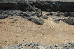 Letras en la arena Foto de archivo libre de regalías