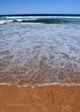 letras 2017 en la playa Foto de archivo