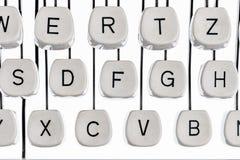 Letras en una máquina de escribir Imagen de archivo libre de regalías