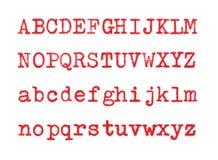 El rojo letra ABCD Fotos de archivo libres de regalías