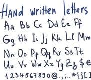 Letras escritas mão no vetor Imagem de Stock