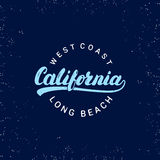Letras escritas mano de California Textura de Grunge Fotos de archivo