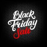 Letras escritas mano de la venta de Black Friday Foto de archivo libre de regalías