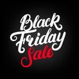 Letras escritas mano de la venta de Black Friday Fotos de archivo libres de regalías